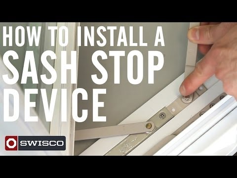 How to Install a Sash Stop Device on a Casement Window [1080p]