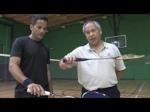 Badminton Tips : How To Hold A Badminton Racket video
