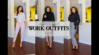 HOW TO LOOK STYLISH AT WORK | 5 OUTFIT IDEAS FOR WORK - OFFICE LOOKBOOK + How to Style