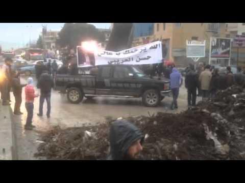 قطع طرق تعنايل وشتورا وحزرتا احتجاجا على عدم توقيف قاتل حسن العريبي