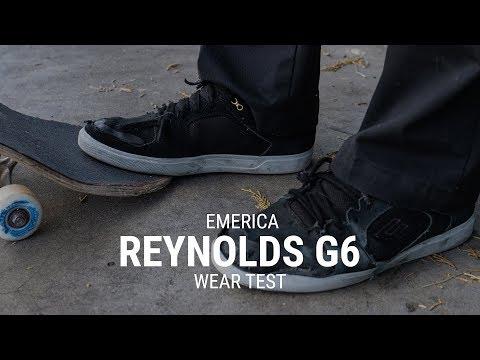 Emerica Reynolds G6 Skate Shoe Wear Test Review - Tactics