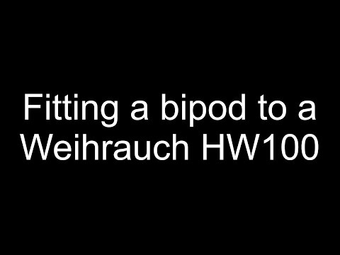 HW100 - Fitting a bipod to a Weihrauch HW100S, quick and easy.