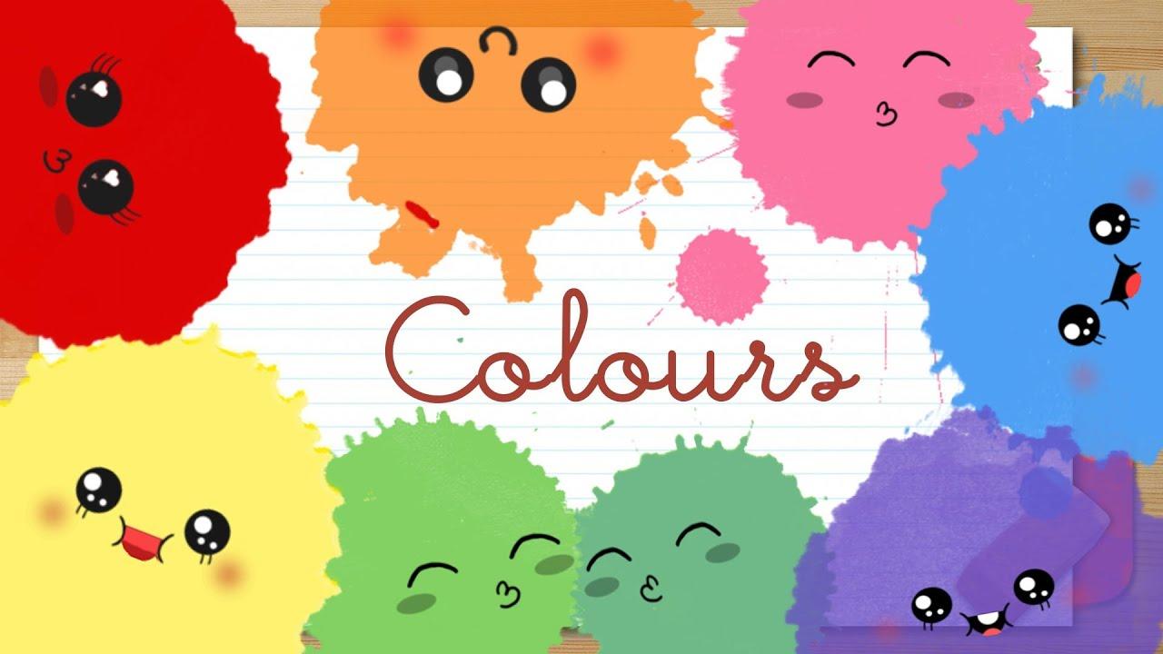 Los Colores en Espanol Para Ninos Colores en Ingl s Para ni os