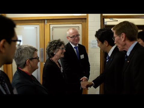 Japan's Prime Minister Shinzo Abe visits ANU