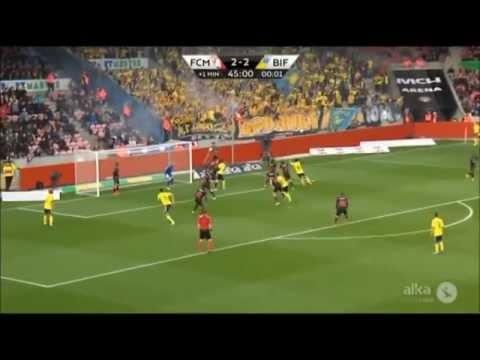 Daniel Agger goal for Brøndby IF against FC Midtjylland 25/05/15