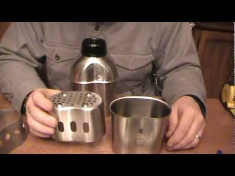 Canteen Shop/Dave Canterbury Stainless Steel Canteen System Tabletop Review