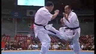 """Kyokushin Karate"" KO (low kick)"