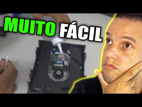 Como abrir gravador DVD para limpar a lente