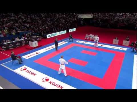 (3/5) Bronze Male Team Kumite Egypt vs Germany. WKF World Karate Championships 2012