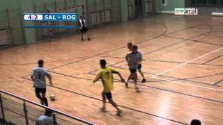 Futsal: Halowa Liga Piłki Nożnej Racibórz: Salos Pogrzebień - Rogol Team