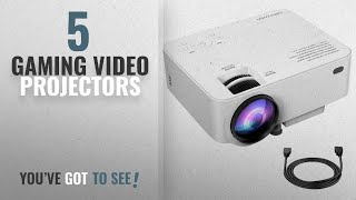 Top 10 Gaming Video Projectors [2018]: DBPOWER T20 LCD Mini Movie Projector, Multimedia Home Theater