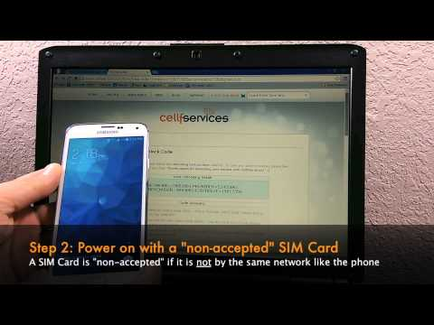 How to Unlock your Samsung Galaxy S5 by Unlock Code - SIM Network Unlock PIN