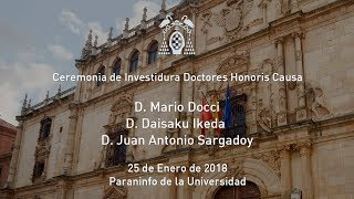 Acto de Investidura Doctores Honoris Causa · 25/01/2018