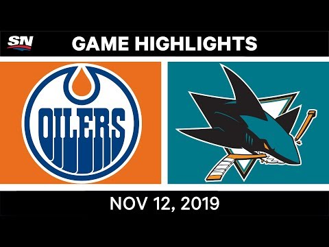 NHL Highlights  Oilers vs Sharks в Nov. 12, 2019