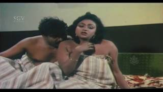 Doddanna Glamour Scene | Hot Romance With A Girl | Hongkongnalli Agent Amar Kannada Movie