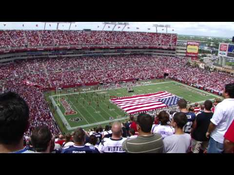TAMPA BAY BUCCANEERS vs DALLAS COWBOYS,national anthem and fly past.