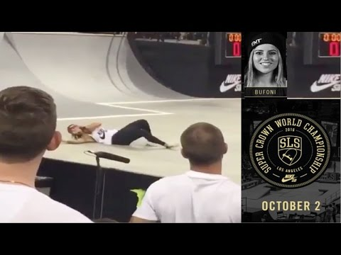 leticia bufoni slams at street league 2016 supercrown
