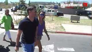 Jensen Ackles and wife Danneel Harris in great spirits leaving Malibu Chili cook off 2012