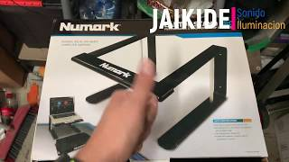 Numark Laptop Stand Pro unboxing desempaquetado opinion Review español castellano