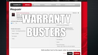 We Use The Milwaukee Tool Warranty Service