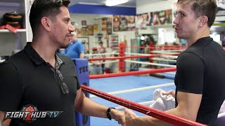 Gennady Golovkin crushes my hand! Displays unreal iron grip strength!
