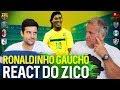 ZICO REAGE AO RONALDINHO: UM DOS MAIORES DA HISTÓRIA   Canal Zico 10