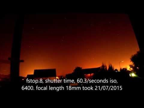 Nikon D3200 night photo test. 21/07/2015