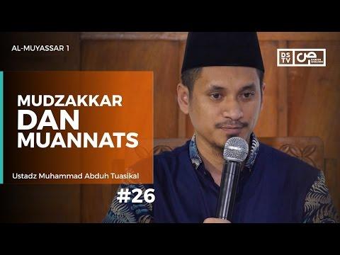 Al-Muyassar (26) : Mudzakkar Dan Muannats - Ustadz M Abduh Tuasikal