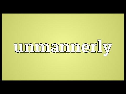 Header of unmannerly