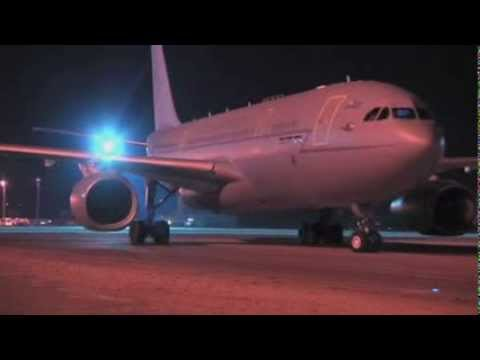 Voyager spreads its wings on first flight to Afghanistan