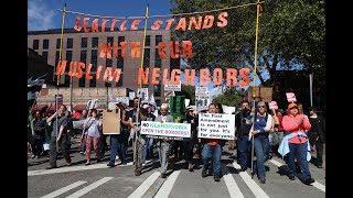 Seattle pro-Muslim, anti-Sharia rallies