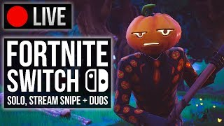 LIVE Fortnite Nintendo Switch Player | Season 6 Solos + Stream Snipes with Viewers!