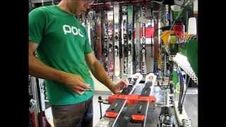 Race Ski Binding Mount   10 minute edit