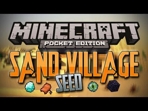 SAND VILLAGE + STRONGHOLD + SADDLE SEED!! - Minecraft Pocket Edition Seed 0.10.4 (RAREST SEED EVER!)