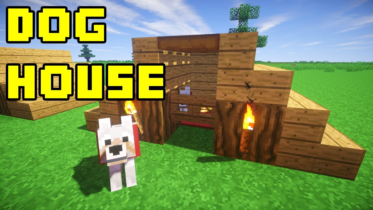Easy House Pets Minecraft Dog/pet House