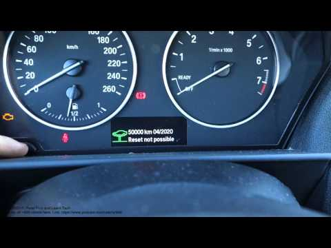 Bmw 1 Series F20 Reset Service Light How To Diy