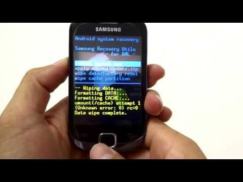 Hard Reset Galaxy Fit S5670    Como Formatar. Desbloquear. Travado ou Muitas Tentativas de Padrão