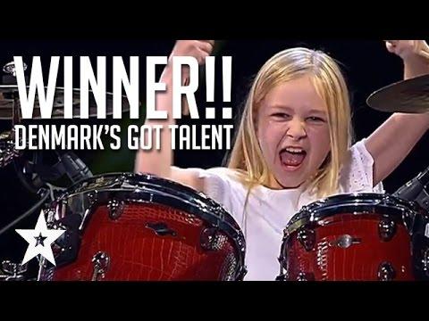 10 Year Old Drummer Johanne Astrid - Winner Of Denmark's Got Talent 2017 Compilation