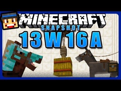 Minecraft Snapshot 13w16a Review / Tutorial - Pferde. Teppiche & Hängebrücken