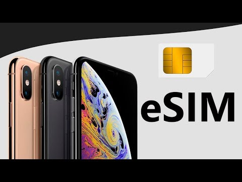 What is eSIM in iPhone XS?