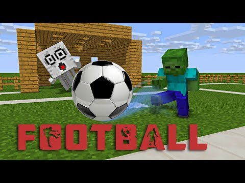 Monster School : FOOTBALL CHALLENGE - Minecraft Animation