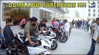 Taking Yamaha R1 and HAYABUSA to College !!! Awesome Student reactions