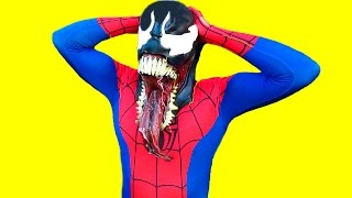 Spiderman in real Life vs Venom | Superhero fights Epic