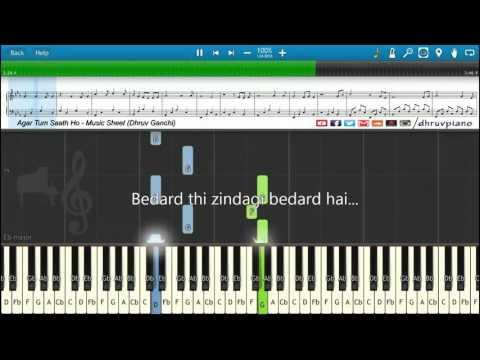 ♫ Agar Tum Saath Ho (Tamasha)    Piano Tutorial + Music Sheet + MIDI with Lyrics