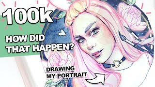 How to GROW your Art Youtube Channel 【A Self-Portrait Watercolor Timelapse】