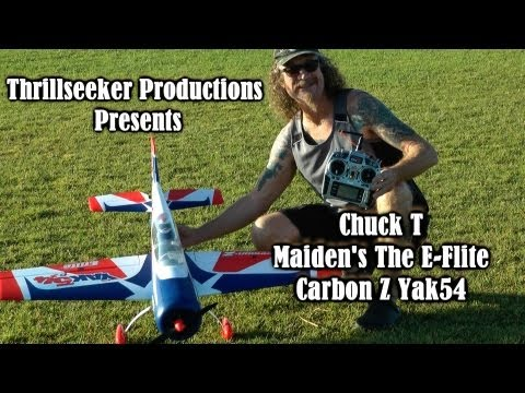 E Flite Carbon Z Yak54 Maiden with ChuckT