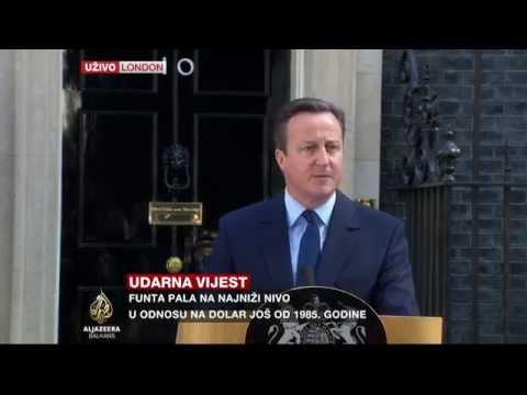 David Cameron o ostavci nakon referenduma