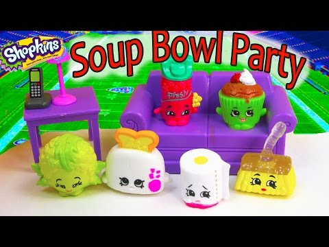 Super Bowl Sunday Football Sports Game Party Parody Shopkins Season 2 Soup Bowl Playing Video