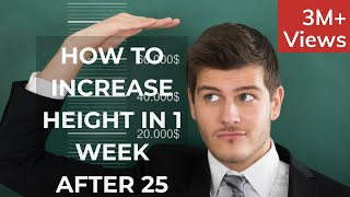 How to Grow Taller in 1 week- Natural Stretching Exercises to Increase Height for adults