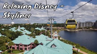 Disney Skyliner Relaxing 1 Hour Video - Walt Disney World